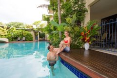 Swim up Pool Deck in Superior Studios and Apartments - Meridian Apartments Port Douglas