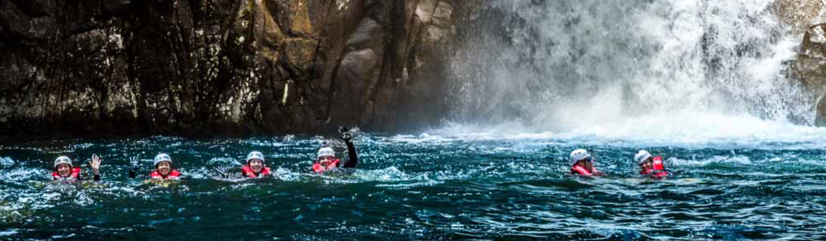 Swimming In Behana Gorge on Canyoning Tour with Behana Days