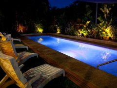 Swimming Pool at Night - The York Beachfront Apartments