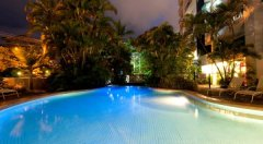 Cairns esplanade apartments Swimming Pool at Night