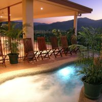 Swimming Pool at Dusk with Views over the Atherton Tablelands