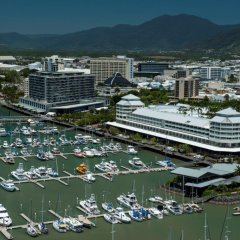 Take a 10-15 minute scenic flight over Cairns city and the Great Barrier Reef