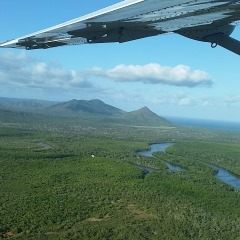 Aerial view on the way to Cooktown