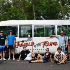 Team photo time on your Jungle Trekking adventure in the Daintree rainforests in Australia