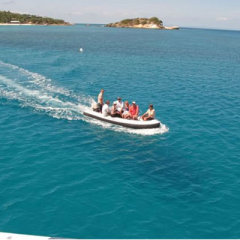 tender rides to remote islands in Coral Sea