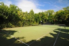 Tennis Court with direct access from holiday house