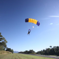 Textbook Landing Skydive Cairns
