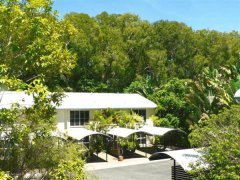 Port Douglas resort apartments are surrounded by shady trees
