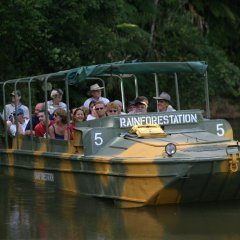 The Army Duck Tour is a Favorite at Rainforestation