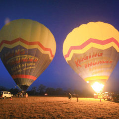 The ascension of hot air balloons is spectacular