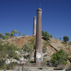 The chimney smelters in outback Queensland