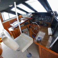 Skippers seat on private charter yacht | Great Barrier Reef Australia