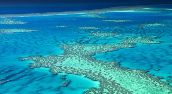 The length and breadth of the Great Barrier Reef is enormous when seen from the seat of a scenic helicopter flight