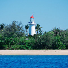 The lighthouse on Low Isles Great Barrier Reef