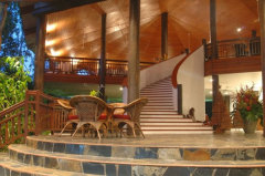 The magnificent cascading staircase at Thala Beach Lodge Port Douglas