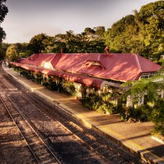 The quaint Kuranda Village Railway station