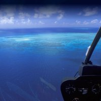 The view from the helicopter gives you a whole new appreciation of the beauty of the Great Barrier Reef