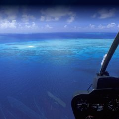 Your view from the helicopter on your Port Douglas Great Barrier Reef Scenic Flights