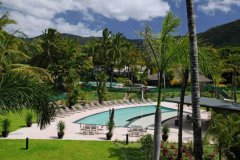 The View to the Resort Pool and Adventure Playground - Paradise Palms Resort located 20mins from Cairns and 5mins to Beaches