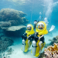 To Scuba Doo is easy when on the Great Barrier Reef in Australia