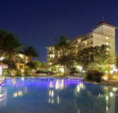 Tropical Evening by the Pool at Novotel Cairns Oasis Resort