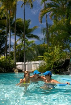 Tropical Swimming Pool at Garrick House Holiday Apartments Port Douglas