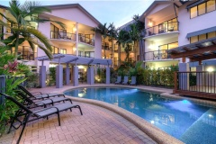 Tropical Swimming Pool with Poolside BBQ facilities Bay Villas Resort Port Douglas