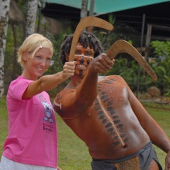 Try Boomerang Throwing | Pamagirri Aboriginal Cultural Experience | Rainforestation Day Trip From Cairns North Queensland
