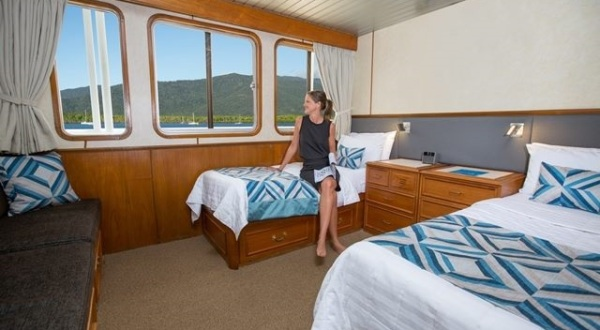 Twin share on board your Great Barrier Reef Cruise boat