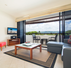 Two Bedroom Apartment Lounge - Saltwater Apartments Port Douglas