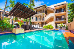 Two Heated Swimming Pools with poolside BBQ - Villa San Michele Apartments, Macrossan Street Port Douglas