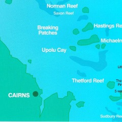 Our Great Barrier Reef location map for our private Charter boat tours