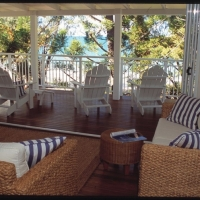 Upper level 2nd living area with ocean views - Pines Beachfront Holiday House Port Douglas