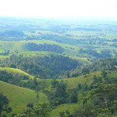 View across Atherton Tablelands in Cairns