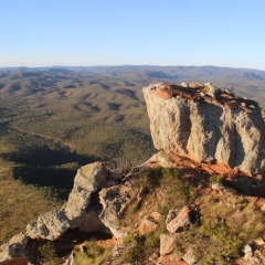 View from the Peak of Mt Mulligan on Outback Heli Tour