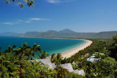 View of 4 Mile Beach from Port Douglas Lookout