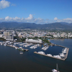 View of Cairns CBD from Above the Inlet