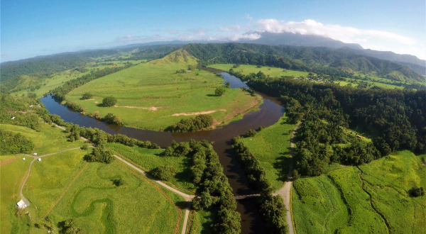View of Daintree River from Helicopter - Lizard Island Experience