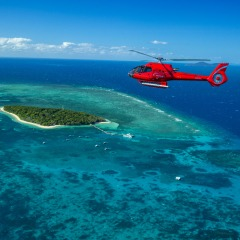 View of Green Island Short Scenic Helicopter Flight Cairns