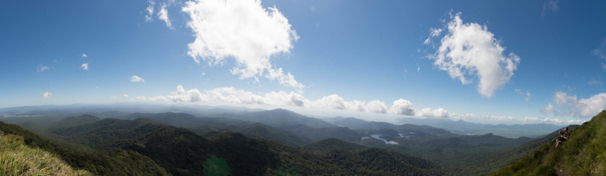 Views across Atherton Tablelands mountain tops