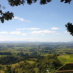 Views across the lush green valleys of Atherton Tablelands