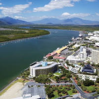 Views of Trinity Inlet from the Helictoper