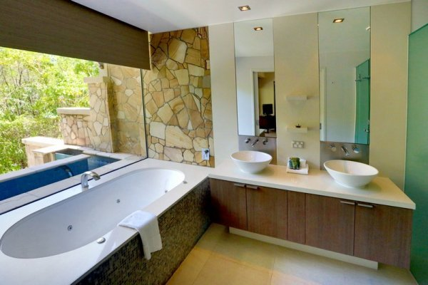 Luxury private Villa Bathroom - within the Sea Temple Resort complex in Palm Cove