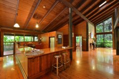 Open plan kitchen living area to take in the unique Rainforest setting  - Daintree Rainforest Holiday Home