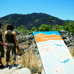Walking on heritage trails in the outback of Queensland