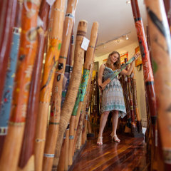 Wander the shops in Kuranda Village and buy Aboriginal Souvenirs
