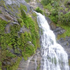 View of Waterfall from Train