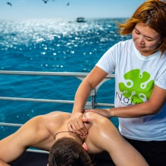 We can even supply a masseur for your groups function on the reef