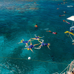 We can offer the entertainment for your groups party on the Great Barrier Reef in Cairns