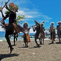 Welcome To Alotau | Experience Authentic Village Costume & Tribal Dances | Cruising PNG